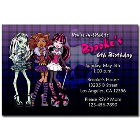 monster high invitations template pictures to pin on