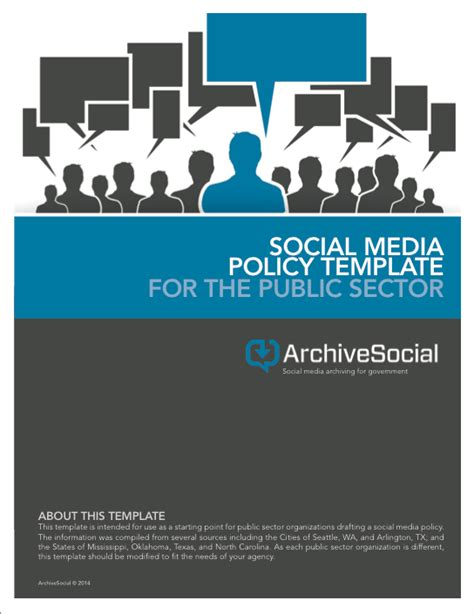 Social Media Resources For Government Archivesocial Social Media Policy Template For Enforcement