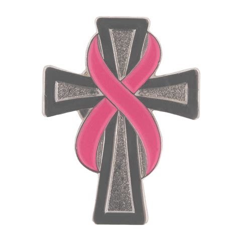 cross tattoos with cancer ribbon breast cancer awareness pink ribbon and cross pin