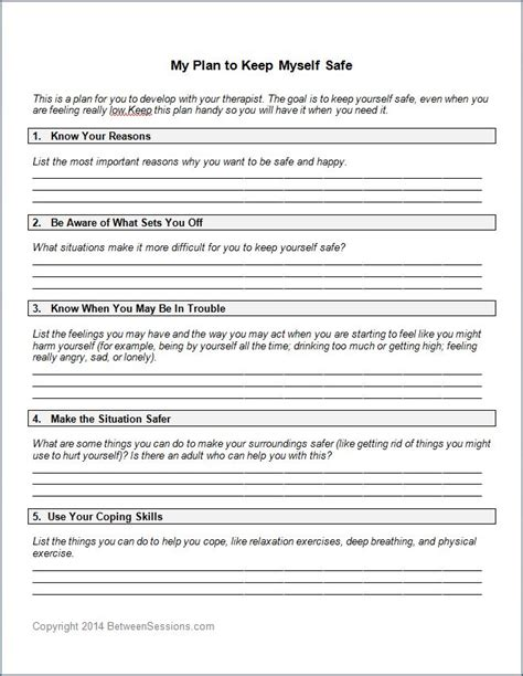 safety plan template for suicidal clients safety plan worksheet mmosguides