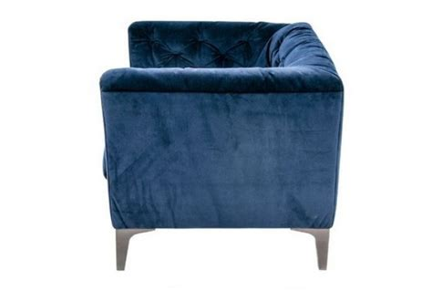 Blue Fabric Armchair by Riviera Blue Fabric Armchair Absolute Home