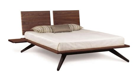 copeland bed copeland astrid bed with 2 headboard panels in walnut