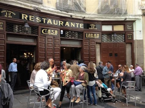 casa labra madrid there are also standing tables outside picture of casa