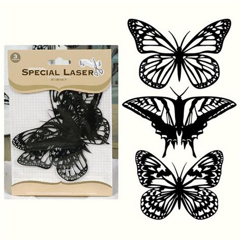 Laser Cutter For Paper Crafts - aliexpress buy flocking black butterflies paper