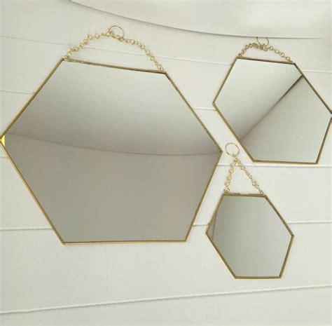 mirror shapes mirror shapes mirror shapes large hexagon shaped brass