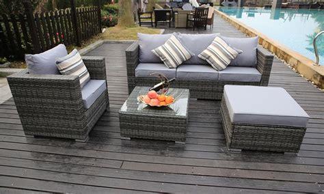 vancouver rattan sofa sets  sizes groupon goods