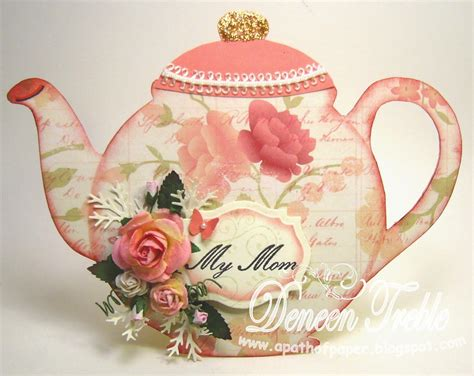How To Make A Paper Teapot - a path of paper top tip tuesday teapot card tutorial