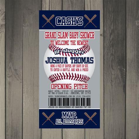New York Yankees Inspired Baseball Baby S Er Invitation