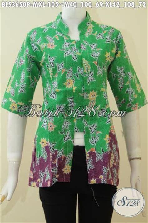 Eyeshadow Untuk Baju Hijau baju blus hijau kombinasi ungu dengan motif bunga pakaian batik formal untuk seragam kerja