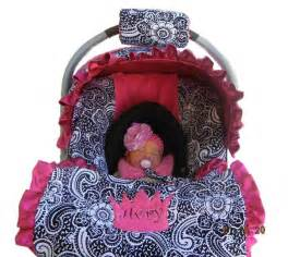Car Seat Cover For Newborn Baby Car Seat Cover Paisley With Pink Minky Dot By Isewjo