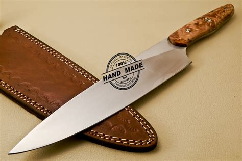 handmade kitchen knives kitchen knife custom handmade stainless steel kitchen chef knife with cow handle 838