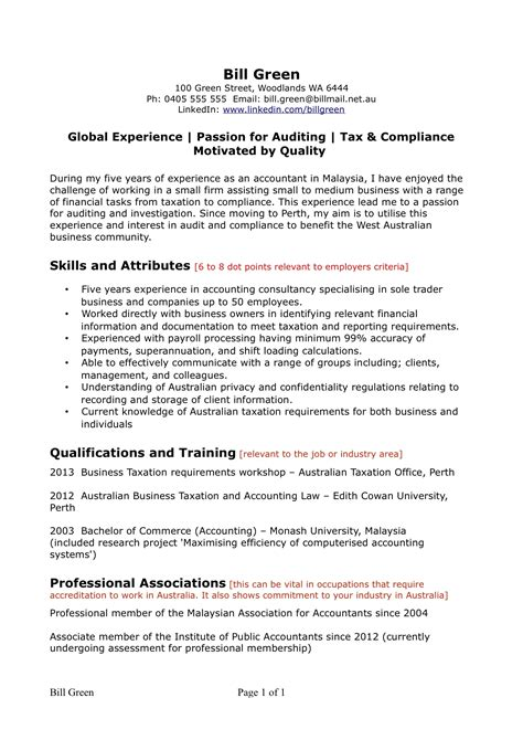 resume templates australia resume format in australia it resume cover letter sle