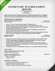 Resume Exles Elementary School by Resume Sles Writing Guide Resume Genius