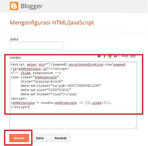 cara membuat iklan adsense cara membuat iklan tautan responsive di blog kejhe blog