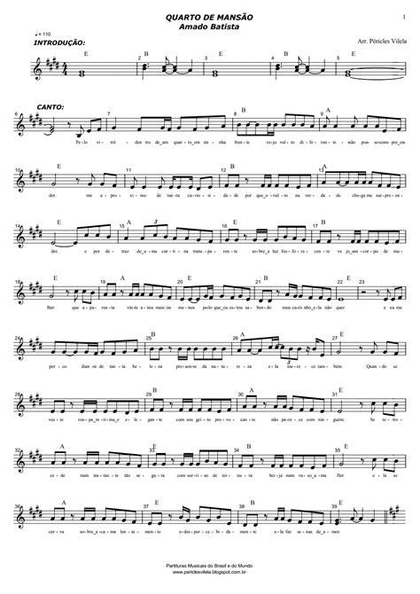 Partituras Musicais: Quarto de Mansão - Amado Batista - n