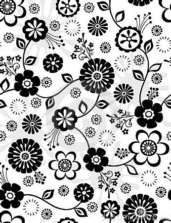 repeat pattern black and white black and white flowers seamless repeat pattern stock