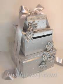 wedding gift card box wedding card box silver gift card box money box