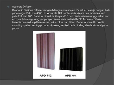 Panel Akustik Peredam Gema bahan dan panel akustik peredam suara yang bagus untuk