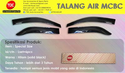 Talang Air List Chrome Fortuner variasi mobil jenis talang air