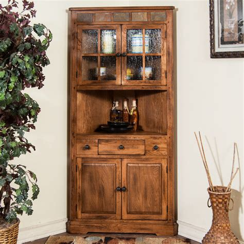 sedona corner china cabinet modern china cabinets and