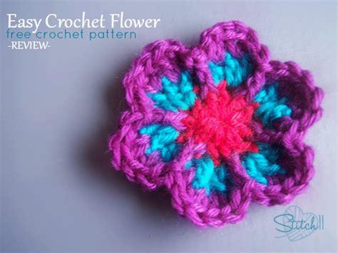 crochet flower pattern easy free easy crochet flower free crochet pattern review stitch11