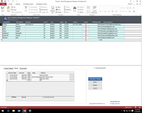 download ms access database templates free download