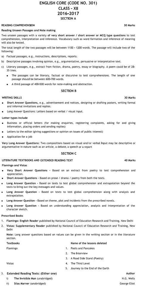 classification pattern english new exam pattern in cbse download pdf