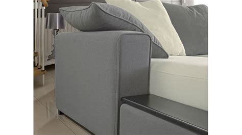 Commode D Angle 196 by Canap 233 D Angle R 233 Versible Blanc Et Gris 5 Personnes