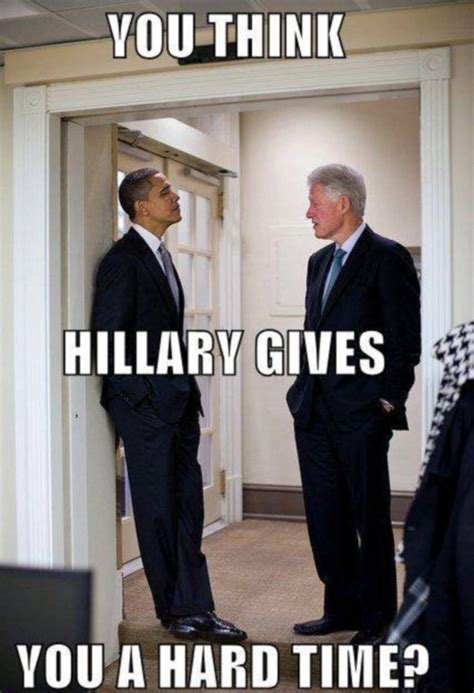 Bill Clinton Obama Meme - laughing at the president the best memes funny photo