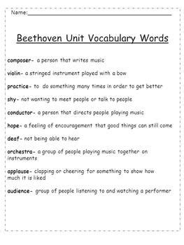 biography writing unit beethoven unit biography writing word problems
