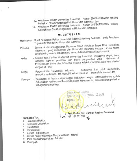 Pedoman Ta Ui Sk Rektor 2008 | pedoman ta ui sk rektor 2008