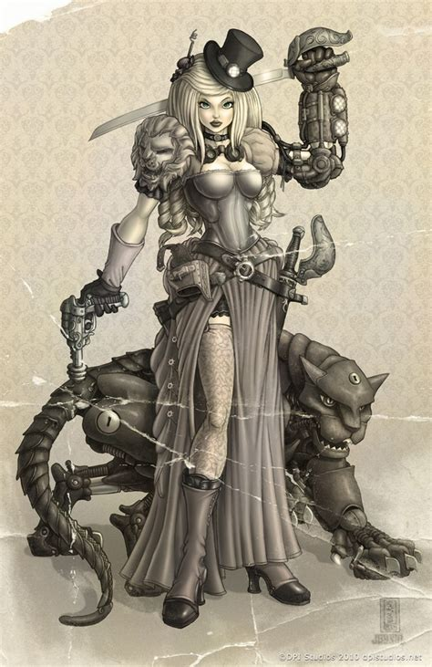 steampunk artwork amp draw on pinterest lady mechanika
