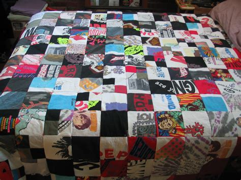 T Shirts Made Into Quilts by Concert T Shirt Quilt Springhouse