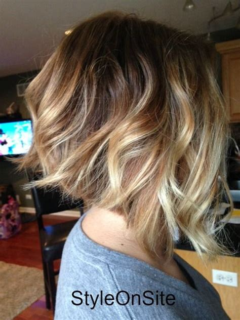 beachwave chin lenght bob beach waves for chin length hair 60 hottest balayage hair