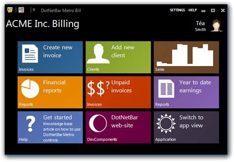 design menu in vb6 metro style user interface controls winforms c vb