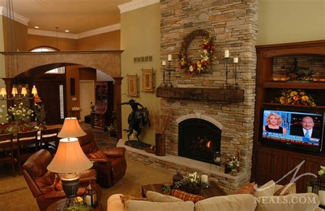 great room floor to ceiling fireplace withamsville oh - Great Room Fireplace