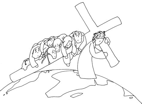 Imagenes Del Via Crucis En Blanco Y Negro | materiales de religi 211 n cat 211 lica via crucis en blanco y