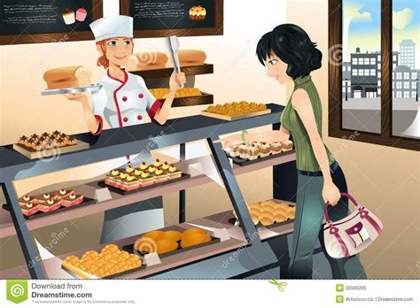 Buy Cake by Buying Cake At Bakery Store Royalty Free Stock Photo