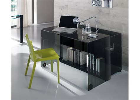 Modern Glass Desks For Home Office Tonelli Server Glass Home Office Desk Modern Home Office Desks