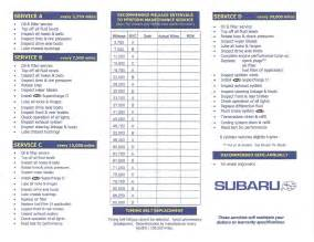 Subaru Forester Service Schedule Maintenance Schedule For 2012 Subaru Forester Review Ebooks