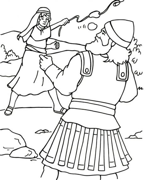 coloring page for david and goliath david and goliath coloring pages az coloring pages
