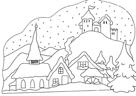 snow village coloring page snow coloring pages coloringsuite com