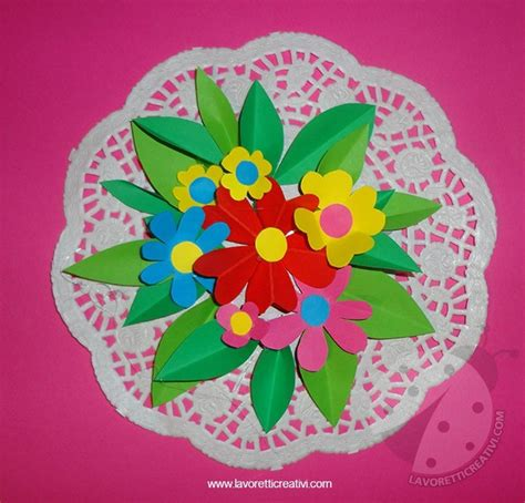 festa della mamma fiori festa della mamma mazzo di fiori lavoretti creativi