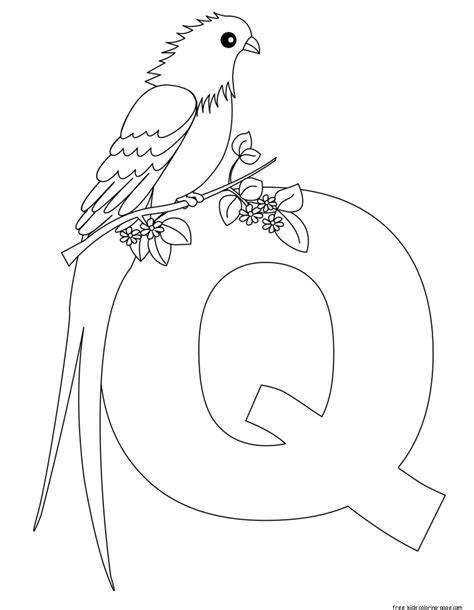 Printable Letter Q Coloring Pages by Printable Alphabet Letters For Preschoolers Letter Qfree