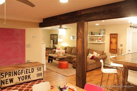 Decorating A Basement by Decorating Ideas Basement Family Room Basement Family Rooms Exposed Beams And Boxing