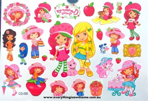 strawberry shortcake tattoo designs everything is awesome strawberry shortcake temporary