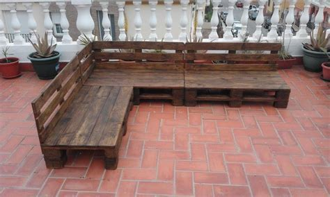 pallet patio terrace sectional furniture pallet