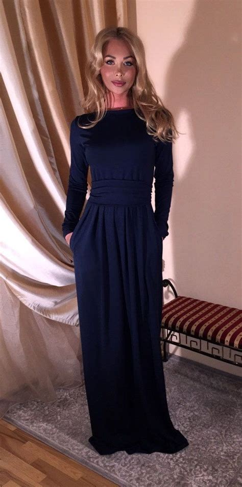 Maxi Vera Navy 1000 ideas about blue sleeve dress on