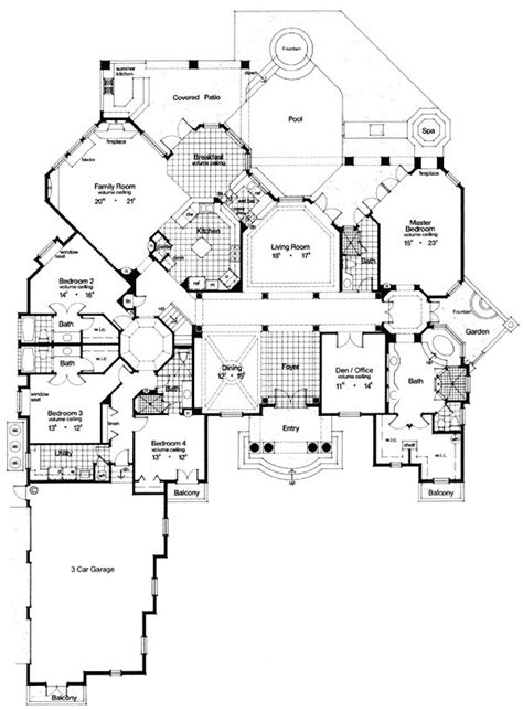 one level luxury house plans florida mediterranean house plan 63079
