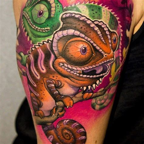 chameleon tattoos 25 best ideas about chameleon on